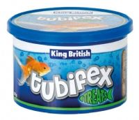King British Freeze Dried Tubifex 175g (5x 35g) Natural treat food Tropical Fish